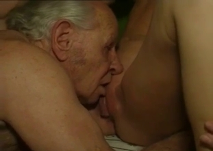 Filthy grandfather nicely bangs a sexy granddaughter