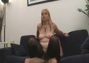 Watch how my sexy mommy is sucking my cock