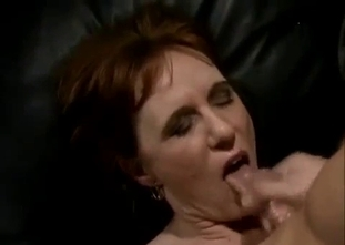 Natural-tit mom enjoys perverted sex with her son