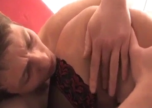 Blonde blows her son's dick in the 69 pose