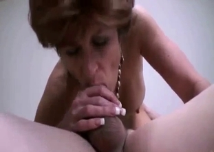 Sweet doggy style fuck with a long-legged stepmother