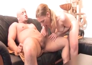 Fat sister blows her brother's dick with love
