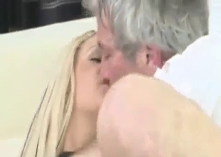 Blonde stepdaughter nicely blows a big boner