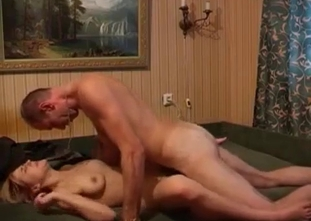 Busty slut gets nicely fucked by her daddy