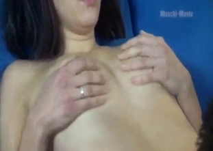 Busty sister sensually sucks her father's boner