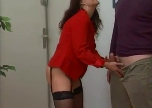 My mommy is sucking my big cock like a professional