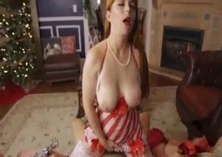 Redhead sister jerks and sucks my loaded sausage